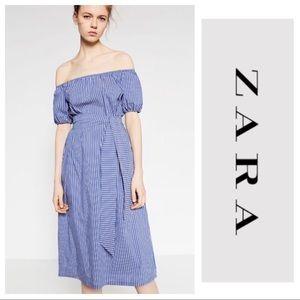 NWT Zara Off the Shoulder Dress